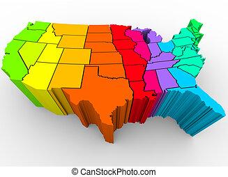 קשת, אחד, גוון, -, צבעים, מדינות, תרבותי