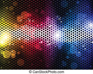 קשת, נאון, צבעוני, רקע, מפלגה