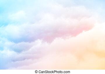 קשת, עננים