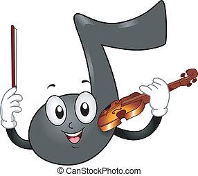 ראה, כינור, מוסיקה, קמיע