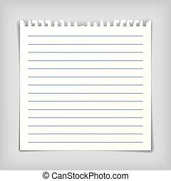 ראה, קוים, נייר, דף