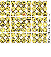 רגש, emoticons, vectors, איקון