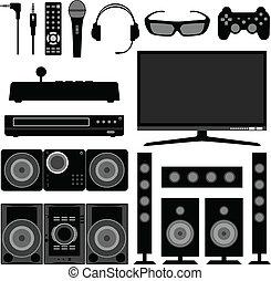רדיו, טלוויזיה, אלקטרוני, בית