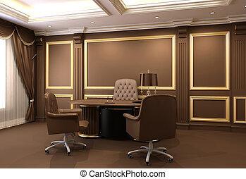 רהיטים של משרד, פנים, מעץ