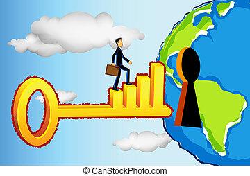 רווחי, עסק של עולם, להכנס, איש