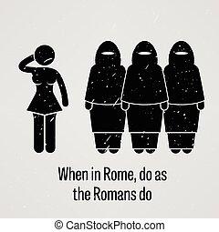 רומאים, רומא, כאשר