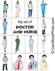 רופאים, קבע, רפואי, nur, גדול