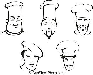 רושם, טבחים, ראשים