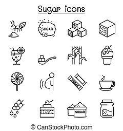 רזה, סיגנון, קו, קבע, סוכר, איקון