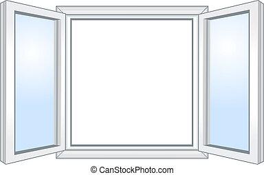 רחב, חלון, פתוח