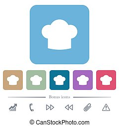 ריבוע, דירה, איקונים, טבח, כד, רקעים, צבע, כובע