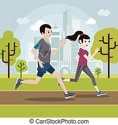 ריצה באיטיות, אישה, חנה, איש צעיר