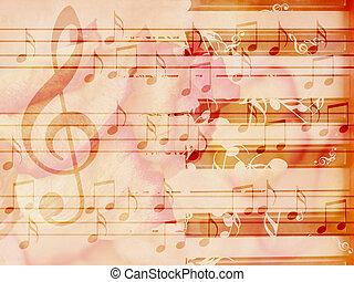 רך, פסנתר, גראנג, רקע, מוסיקה