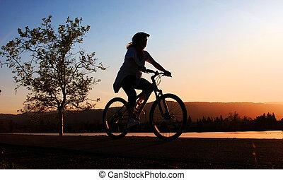 רכוב, אישה, אופניים