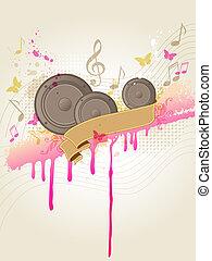 רמקולים, מוסיקה, רקע