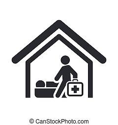רפואי, הפרד, דוגמה, יחיד, וקטור, איקון