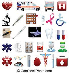 רפואי, קבע, בית חולים, איקונים