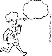 רץ, ציור היתולי