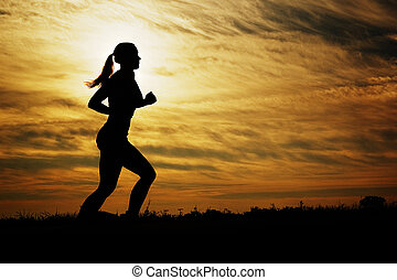 רץ, שקיעה