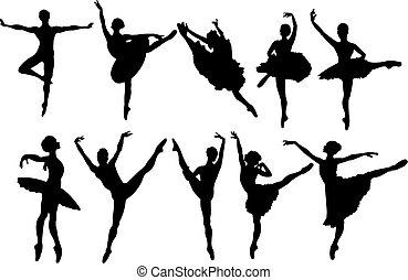 רקדנים, צלליות, בלט