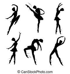 רקדנים של בלט, קבע, צלליות