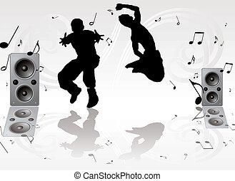רקוד, זוג, מוסיקה
