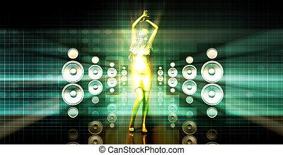 רקוד, תקציר, מוסיקה, רקע