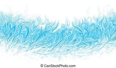 רקע., וקטור, קרח, קיפאון, חג המולד, דוגמה, חורף, כחול