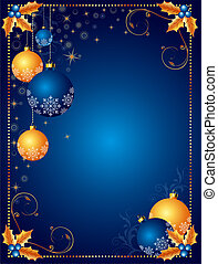 רקע, כרטיס של חג ההמולד, או