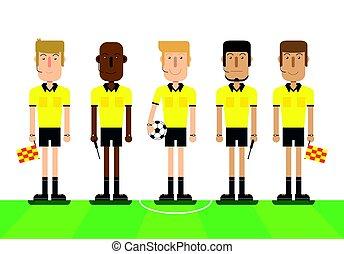 רקע., לבן, כדורגל, שופטים