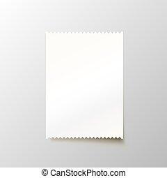 רקע., לבן, נייר, המחאה, טופס