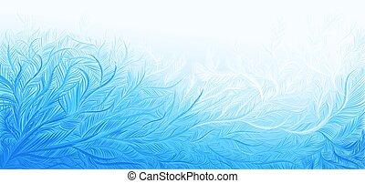רקע., מתולתל, וקטור, קרח, קיפאון, חג המולד, דוגמה, חורף, כחול