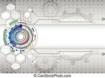 רקע, עסק, תקציר, גבוה, מעגל של מחשב, טכנולוגיה, עתידי