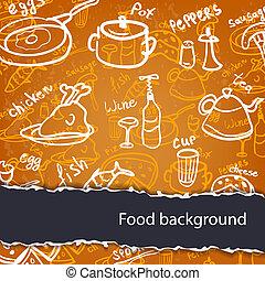 רקע של אוכל