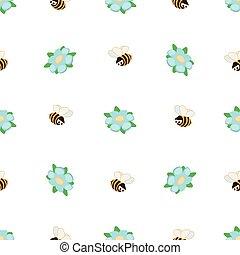 רקע, pattern., מצחיק, ילדים, תפוז, כחול, שכח אותי לא, קיץ, seamless, דבורות, פרוח, לבן, וקטור