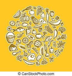 רשום, אוכל בריא, רקע, עצב, שלך