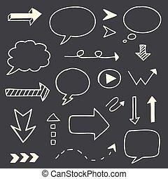 רשום, קבע, חיצים, העבר, נאום, צייר, בעבע