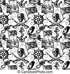 רשום, pattern., seamless, דוגמה, העבר, וקטור, צייר, גנוב