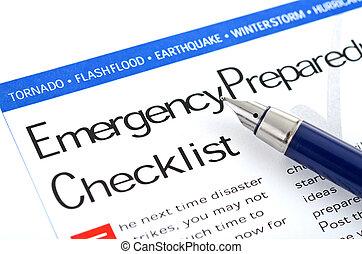 רשימה, דריכות, חירום