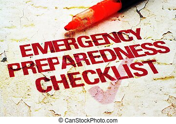 רשימה, חירום