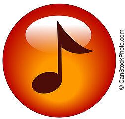 רשת, או, ראה, מוסיקלי, איקון, כפתור אדום