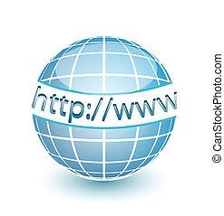 רשת, איצ'.טי.טי.פי, אינטרנט העולמי, גלובוס, אינטרנט
