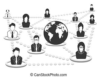 רשת, אנשים של עסק