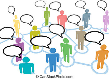 רשת, אנשים, תקשורת, קשרים, נאום, סוציאלי, דבר