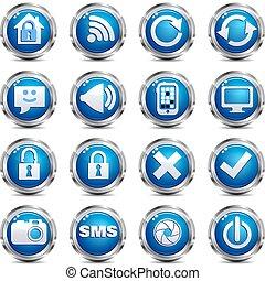 רשת, קבע, &, -, אתר, שני, איקון של אינטרנט