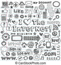 רשת, קבע, שרבט, וקטור, איקון של אינטרנט
