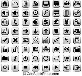 רשת, &, תקשורת, כפתורים, אינטרנט, חדש