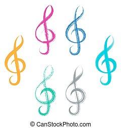 שבצים, עצב, clefs, טרבל, צחצח