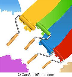 שבצים, צבע מוטי גלילי