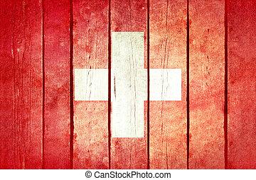 שוויץ, מעץ, גראנג, flag.